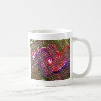 赤紫の「黒い瞳 コーヒーマグカップ