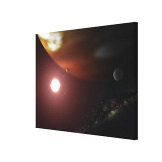赤色矮星星の回りを回る大手ガス会社の惑星 キャンバスプリント