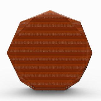 赤茶色の水晶石のストライプのDecoの芸術NVN696のおもしろい 表彰盾