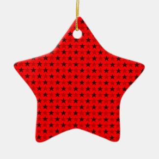 赤茶色ポルカの星、鮮やかでおよび強い赤 セラミックオーナメント