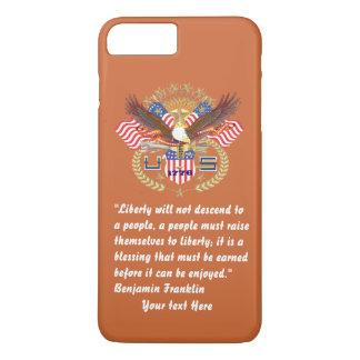 赤茶色愛国心が強い自由の平和 iPhone 8 PLUS/7 PLUSケース