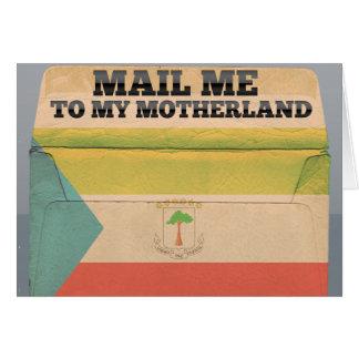 赤道ギニアに私を郵送して下さい カード