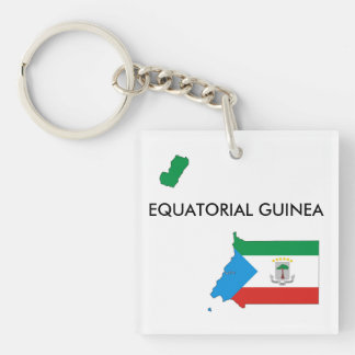 赤道ギニアの国旗の地図の形 キーホルダー
