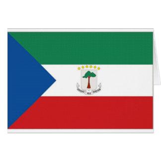赤道ギニアの国旗 カード