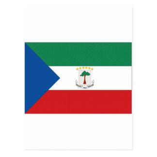 赤道ギニアの国旗 ポストカード