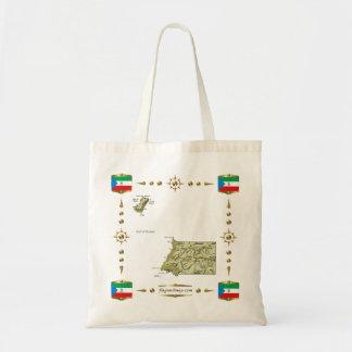 赤道ギニアの地図 + 旗のバッグ トートバッグ