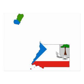 赤道ギニアの旗の地図GQ ポストカード