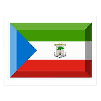 赤道ギニアの旗の宝石 ポストカード