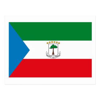 赤道ギニアの旗の郵便はがき ポストカード