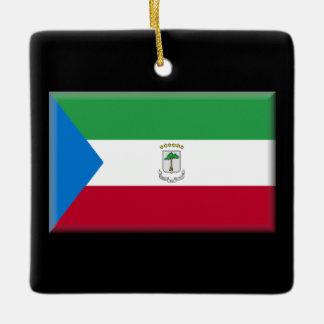 赤道ギニアの旗 セラミックオーナメント
