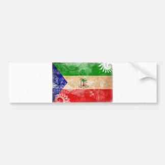 赤道ギニアの旗 バンパーステッカー