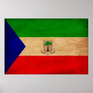 赤道ギニアの旗 ポスター