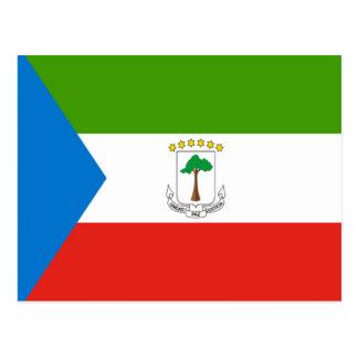 赤道ギニアの旗 ポストカード