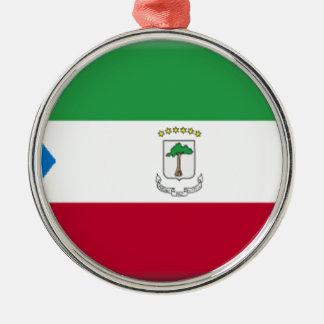 赤道ギニアの旗 メタルオーナメント