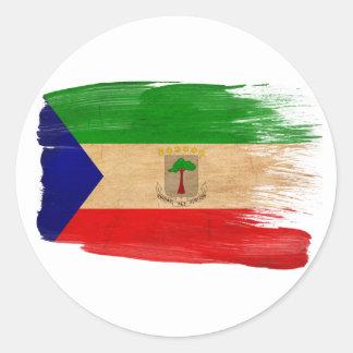 赤道ギニアの旗 ラウンドシール
