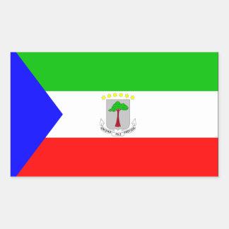 赤道ギニアの旗 長方形シール