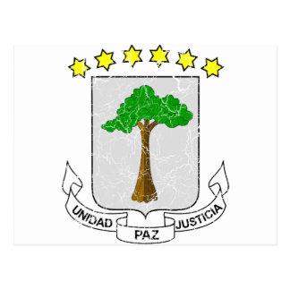 赤道ギニアの紋章付き外衣 ポストカード