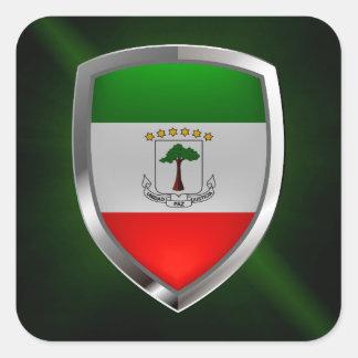 赤道ギニアのMettalicの紋章 スクエアシール