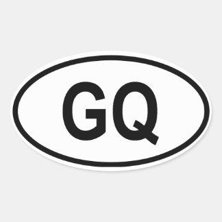 """赤道ギニア""""GQ """" 楕円形シール"""
