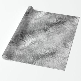 赤鉄鉱の灰色によって走り書きされる質 ラッピングペーパー
