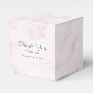 赤面のピンクのエレガントな大理石の結婚式 フェイバーボックス