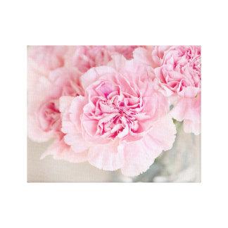 赤面のピンクのカーネーション キャンバスプリント