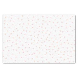 赤面のピンクの幾何学的な三角形の紙吹雪パターン 薄葉紙