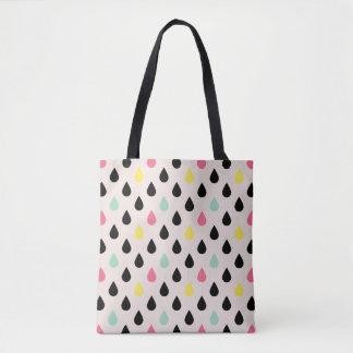 赤面の幾何学的でモダンなパターンのよくはしゃぐな低下 トートバッグ