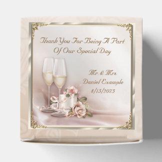 赤面の結婚式の引き出物のギフト用の箱 フェイバーボックス