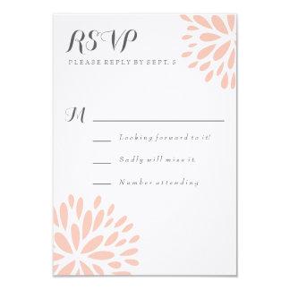 赤面の花の花のモダンRSVPカード カード