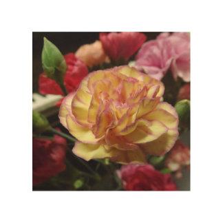 赤面の花びらの木製の壁の芸術 ウッドウォールアート