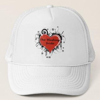 赤面の花嫁のゴシック様式ハートのトラック運転手の帽子 キャップ