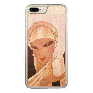 赤面の花嫁のヴィンテージのアールデコの絵 CARVED iPhone 8 PLUS/7 PLUS ケース