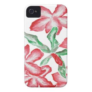 赤面の赤い花 Case-Mate iPhone 4 ケース