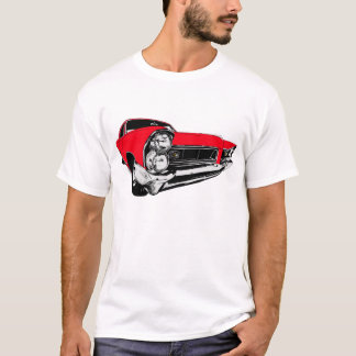赤1965年のポンティアクグランプリ Tシャツ