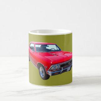 赤1966年のChevy Chevelle SS 396 コーヒーマグカップ