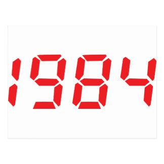 赤1984年のアイコン ポストカード