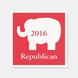 赤2016の共和党の政治選挙のイベント スタンダードカクテルナプキン