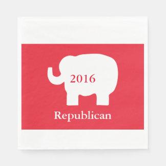 赤2016の共和党の政治選挙のイベント スタンダードランチョンナプキン