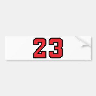 赤23 バンパーステッカー