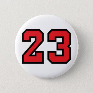 赤23 5.7CM 丸型バッジ