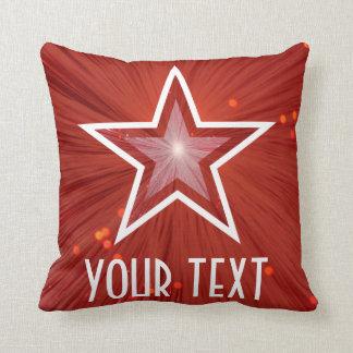 赤「あなたの文字」の装飾用クッションの正方形 クッション