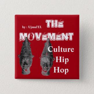 (赤)動き文化ヒップホップボタン 缶バッジ