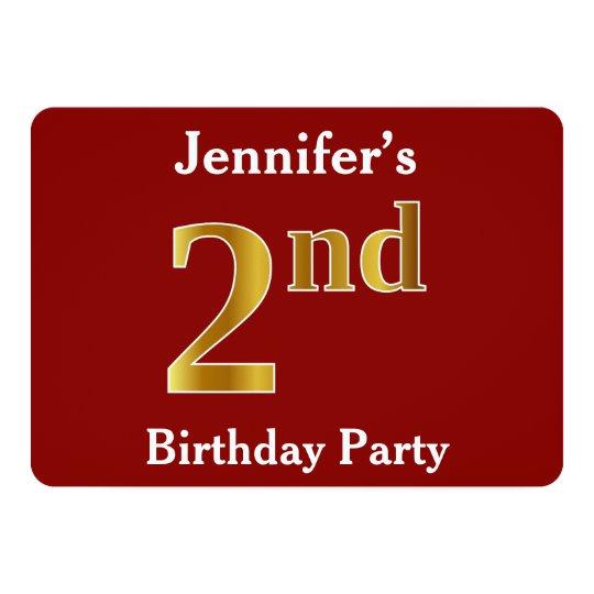 赤、模造のな金ゴールドの第2誕生会 + 名前をカスタムする カード