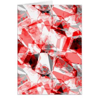 赤、白い及び灰色の幾何学的な多角形 カード