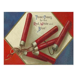 赤、白および青 ポストカード