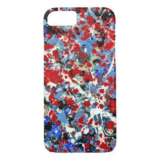 赤、白および青! (抽象美術のデザインの) ~ iPhone 8/7ケース