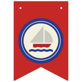 赤、白くそして青の航海のな旗の旗布 バンティングフラッグ
