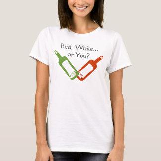 赤、白…またはあなたか。 ワイン・ボトルのTシャツ Tシャツ