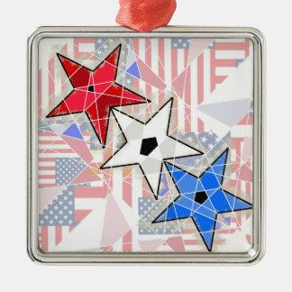 赤、白、青、… 星条旗 メタルオーナメント